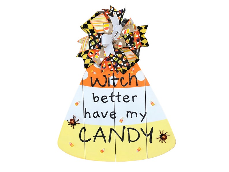 Candy Corn Door Hanger for Halloween image 0