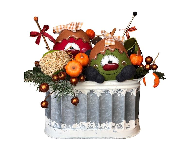 Fall Centerpiece with Primitive Country Apples image 0