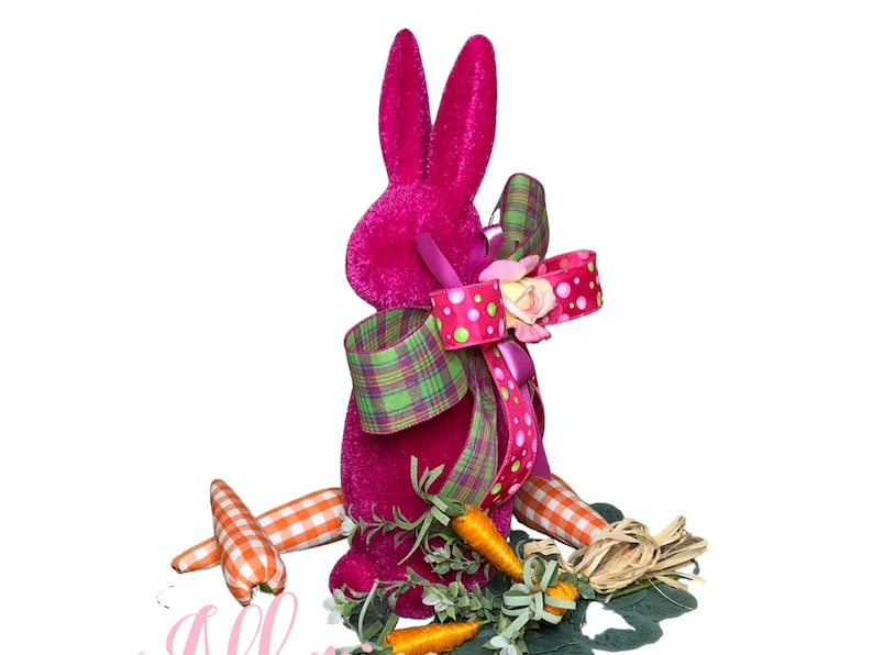 Easter Bunny Centerpiece in Hot Pink for Table image 0