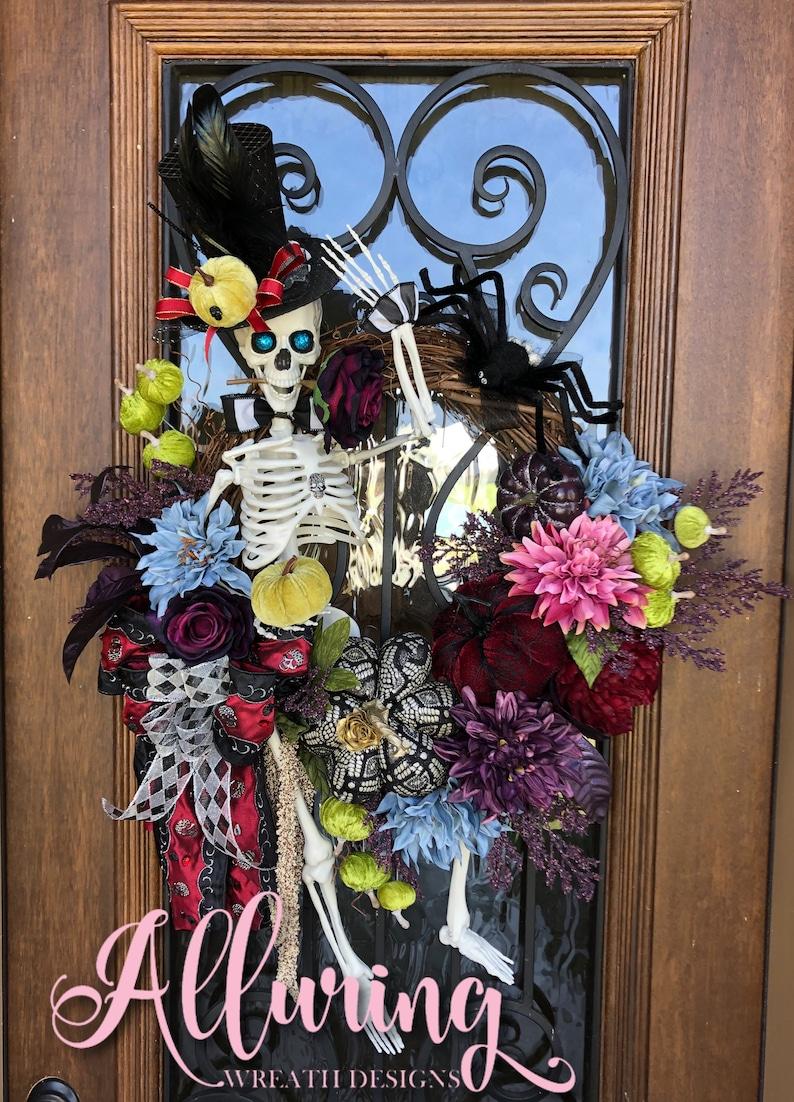 Mr. Bones Skeleton Wreath for Halloween image 0