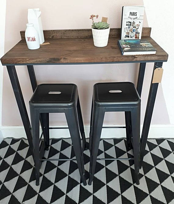 hot sale online c2e3a 69ba9 Rustic industrial style breakfast bar with 2 metal stools. Home | coffee  shop | bar | pub | restaurant