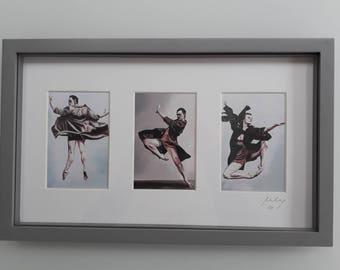Three ballet dancers Framed Print