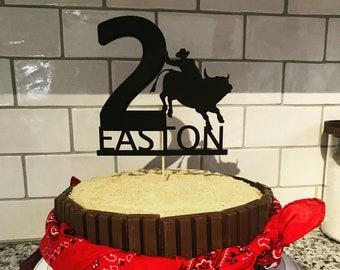 Pleasing Cowboy Cake Topper Etsy Funny Birthday Cards Online Necthendildamsfinfo