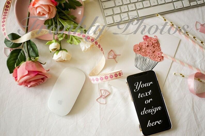 Pink Styled Stock Photo / iphone Mockup / Styled Stock image 0