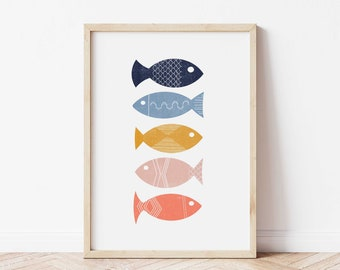 COLORFUL /& BEAUTIFUL FISH ART Canvas collection Home decor wall print art