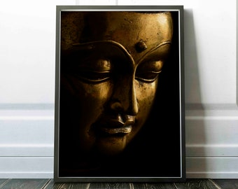 Gold buddha print   Etsy