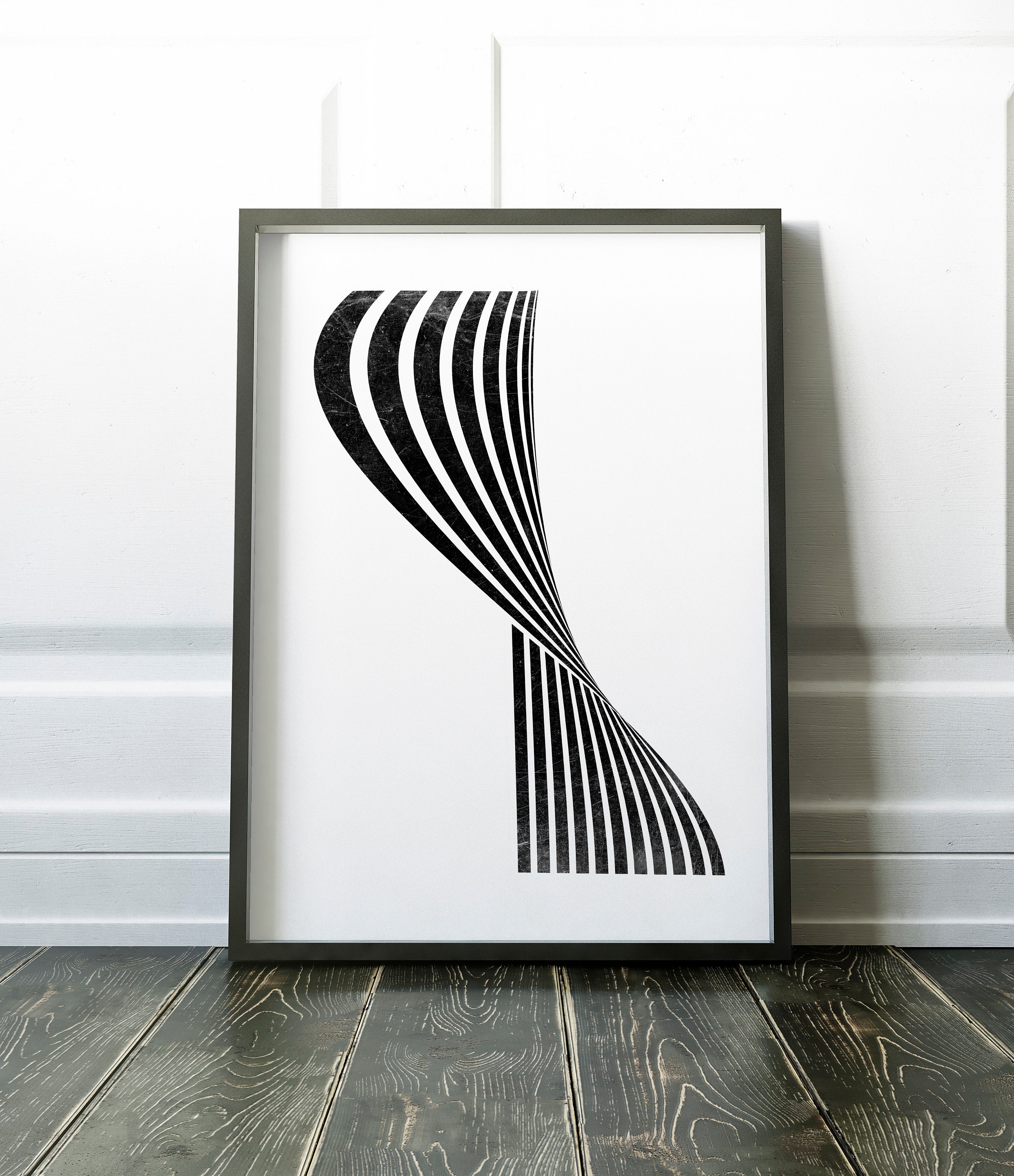 Scandinavian Minimalist Abstract Mid Century Modern Wall Art Geometric Poster Print Living Room Decor Picture For Office Gift For Him