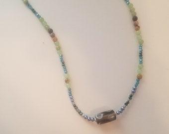 green paisley pendant necklace