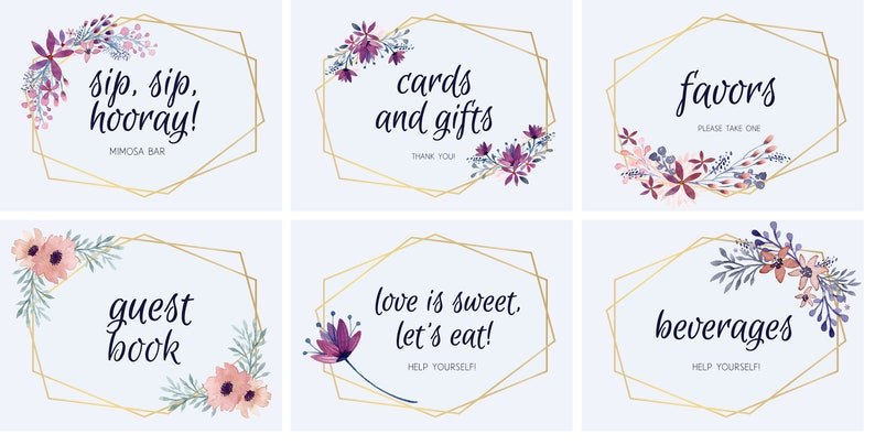 picture relating to Printable Bridal Shower Signs named 6 Printable Bridal Shower Signs or symptoms