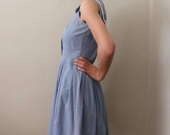e011d88eff9b 1950s sailor baby blue dress, size medium
