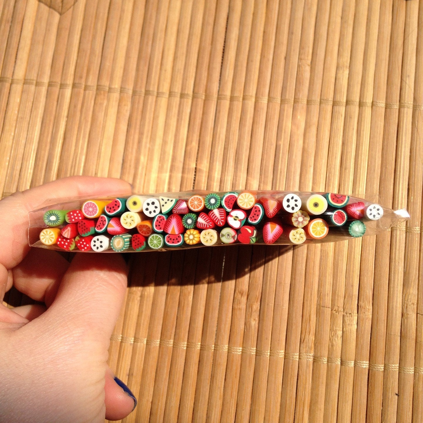 Set Of 50 Polymer Clay Fruit Canes / Fimo Slices Nail Art
