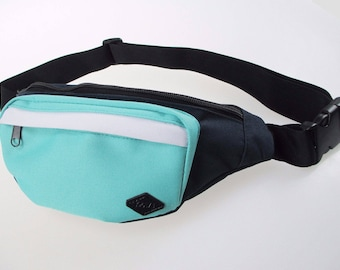 Navy and Teal Fanny Pack