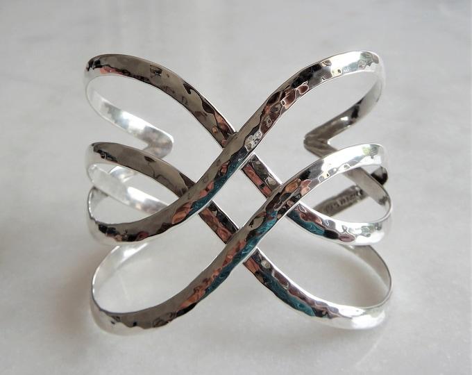 Bracelet for women sterling silver adjustable / Sterling silver cuff bracelet for women bangle bracelet large bracelet for womens gift