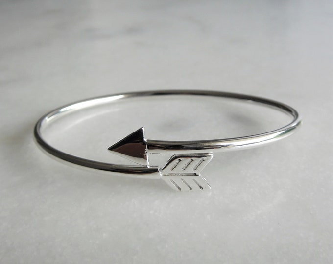 Sterling silver arrow bracelet / Silver cuff bracelet sterling silver men's bracelet women's bracelet sterling arrow silver bracelet bangle