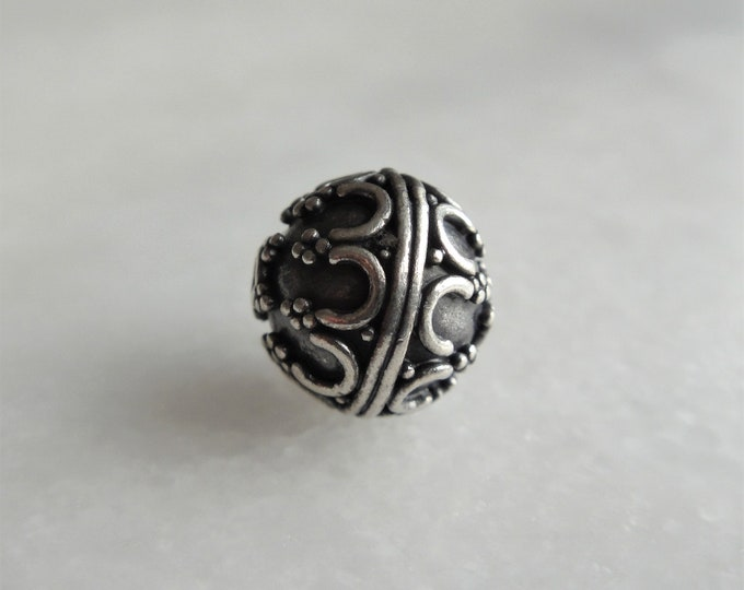 10 sterling silver Bali beads 10mm 0.39in / 925 sterling silver beads Bali bracelet supply 10mm silver supply jewelry beads wholesale