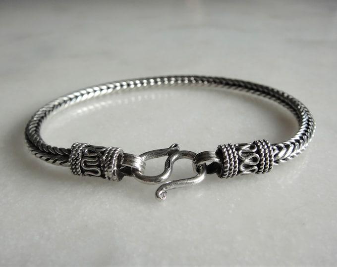 Mens bracelet made of sterling silver / Sterling silver bracelet for men birthday gift for him ethnic chain bracelet gift for boyfriend