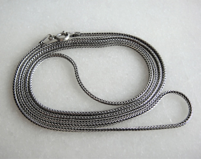 Long oxidized sterling silver mens chain 70cm 60cm / Mens chain solid silver chain gift oxidized silver chain 925 silver mens oxidized chain