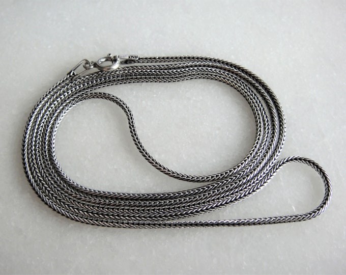 Long oxidized sterling silver mens chain / Mens chain solid silver chain gift for men oxidized silver chain 925 silver mens oxidized chain