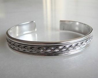1a5df3a4136 Mens cuff bracelet sterling silver adjustable / Sterling silver bracelet  for men birthday gifts ethnic cuff bracelet bangle bracelet