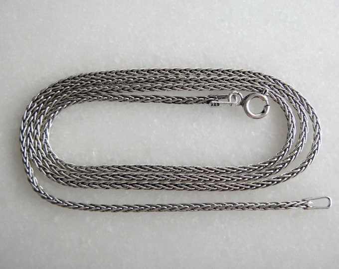Oxidized sterling silver mens chain / Mens chain solid silver chain gift for men oxidized silver chain 925 silver mens jewel  oxidized chain