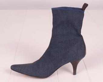 76703af30 Denim Stretch Sock Boots