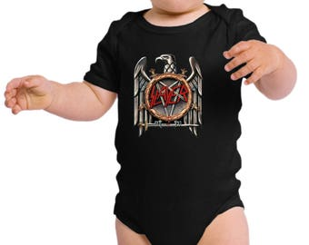 Slayer Thrash Metal, Heavy Metal Black Infant Bodysuit one piece