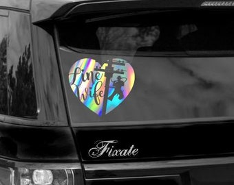 Lineman vinyl sticker decal electric power pole linewife car truck suv window