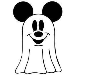 Mickey Ghost  digi stamp