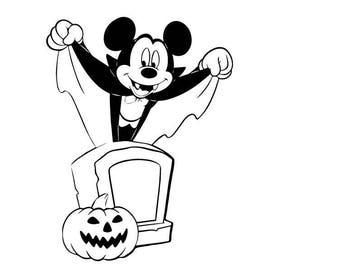 Vampire Mickey  digi stamp