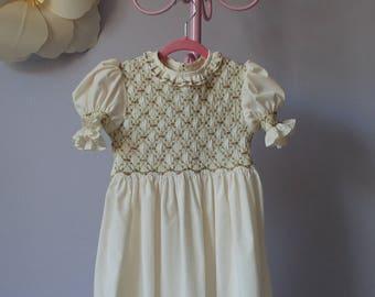 """Smocked Dress """"Garden of Roses"""""""