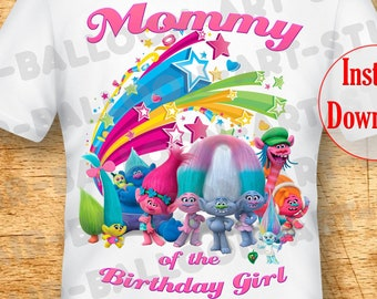 e4d6bdf2 Trolls Birthday Shirts Mommy Iron On Trolls Iron On Transfer Trolls Family Shirts  Troll Iron On Trolls Girl Shirt Trolls DIGITAL DOWNLOAD