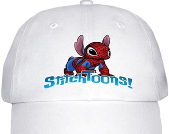 StitchToons Hat with Adjustable Strap, 100% brushed cotton material One size fits all