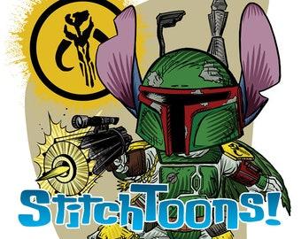 Boba Fett Stitch Parody Fan Art