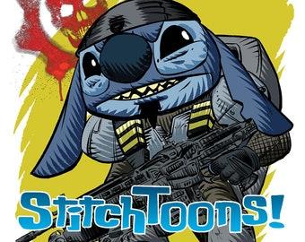 Fenix Gears of War - Stitch Parody Fan Art