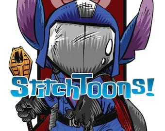 Stitch Dressed as Cobra Commander - Parody Fan Art