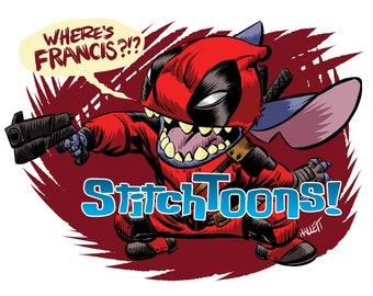 Deadpool Stitch - Parody Fan Art