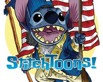 Alexander Hamilton Patriot Stitch Parody Fan Art