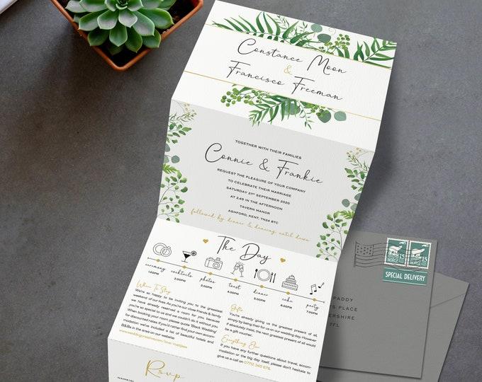 Tri Fold Wedding Invites