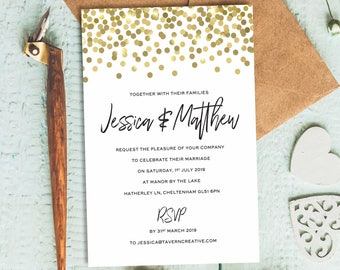 wedding invitation downloadable template