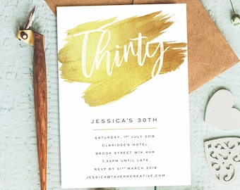 Birthday Invitation For Woman 30th Invite Her Adult