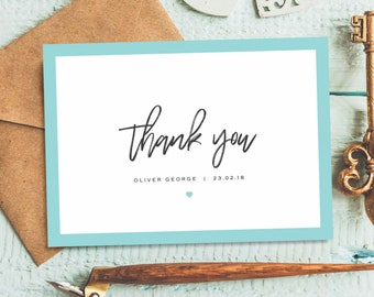 Baby Thank You Cards Etsy