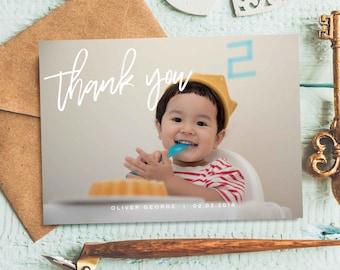 1st birthday thank you cards Etsy
