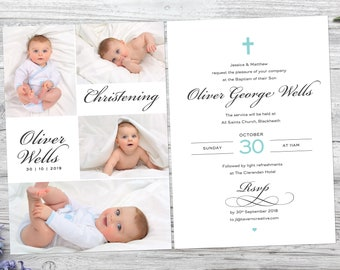baptism invitation etsy