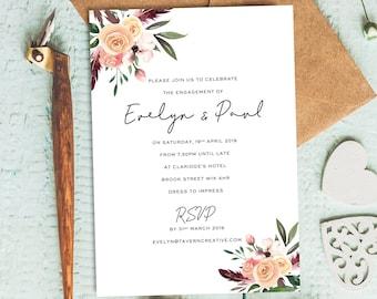 Engagement Invitations Etsy