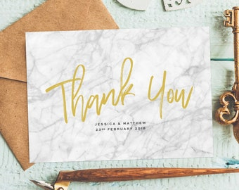 thank you card marble thank you cards wedding thank you cards set rustic personalised thank you cards thank you note wedding thankyou - Personalized Thank You Cards