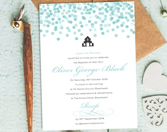 christening invitation boy christening invitation girl photo etsy