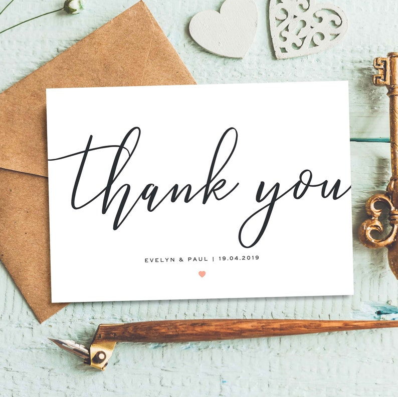 Customized Thank You For Gift Stylish Photo Thank You Cards Postcard Wedding Thanks Wedding Thank You Cards Thank You Cards Folded
