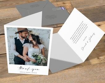 Wedding Photo Thank You Card, Photo Thank You Cards, Thank You Cards Wedding Photo, Wedding Thank You Cards, Thank You Cards Wedding, Rustic