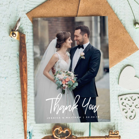 Thank You Wedding Cards Fitbo Wpart Co
