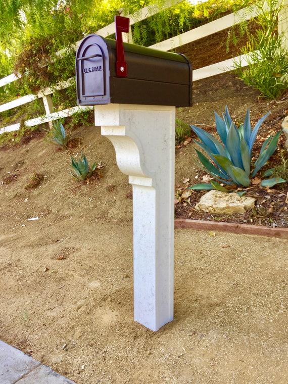 Cast Stone Mailbox Post Ventura By Platt Stone Etsy